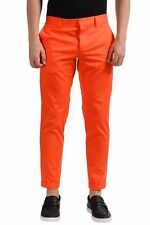 Dsquared2 Men's Orange Cropped  Casual Pants US 32 IT 48