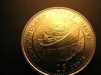 Canada 1992 Newfoundland Province Commemorative 25 Cent Mint Coin.