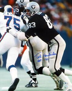 "TED HENDRICKS AUTOGRAPHED SIGNED 16X20 PHOTO RAIDERS ""HOF 90"" BECKETT 179084"