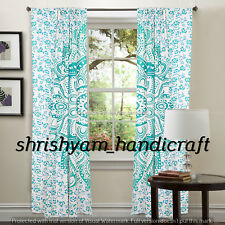 Window Curtain Mandala Home Valances Floral Tulle Voile Doors Window Sheer Ombre
