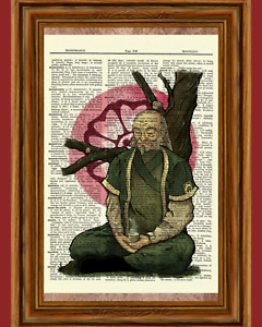 Uncle Iroh Dictionary Art Print Picture Avatar Airbender Legend Korra General