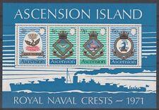 Ascension Island 1971 Bf 3 Stemma marina reale 3 tipo MNH