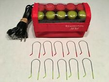 Remington ALL THAT Electric Hot Rollers 10 Hair Curlers Travel Case With Clips