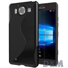 Cover Microsoft Lumia 950 Custodia per Nokia NERO S Line