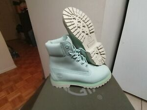 Women's Timberland 6 Inch Premium Waterproof Nubuck Mint Boots A1BJ9 Size 5
