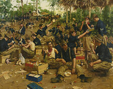 Gaul Gilbert Christmas Day In Camp Canvas 16 x 20  #3301