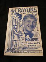 Partition Les crayons Bourvil Lorin Music Sheet