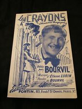 Partition Les crayons Bourvil Lorin Music Sheet