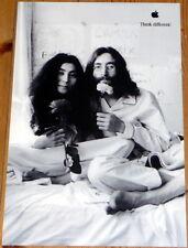 "JOHN LENNON + YOKO ONO * APPLE poster * THINK DIFFERENT * 17""/11"" * mint S. JOBS"