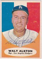 WALT ALSTON Autograph - Signed 1961 Topps #136 baseball card - Dodgers! HOF!