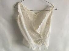 1900s True Antique Edwardian Vest Undergarments White Lace Victorian Xs