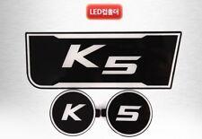 K5 Logo LED cup holder console plates For KIA 2011-2015 Optima
