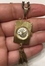 Vintage Villereuse 17 jewel manual wind Up Pendant Watch Parts/repair