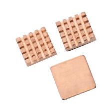 1 Set of Heatsinks 3 Pcs of Copper Heat Sink Cooling Kit for Raspberry Pi 3 B