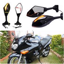 Motorcycle LED Turn Signal Side Mirror For Suzuki GSX 600F 750F Katana 1998-2007