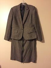 Nine West Women's Brown Speckled Skirt Suit Size 8
