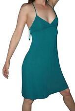 Urban Outfitters Turquoise Blue Satin Bow Asymmetrical Hem Dress XS Kimchi Blu