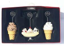 St. Nicholas Square Photo Holders Set Of 3 Ice Creame