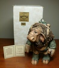 The World of Krystonia - Moplos Figurine w/Box and S&N (#558) Description Card