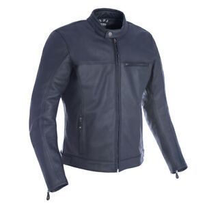 OXFORD PRODUCTS WALTON Men's Black Leather Motorbike Cruiser Jacket CE Approved