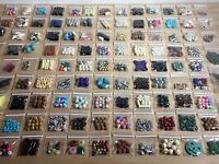 Large Lot Of Mixed Assorted Beads Jewelry Making Supplies & Crafts 25 Bags