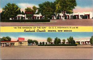 Linen Postcard Rubbish Courts Motel in Deming, New Mexico~137226