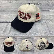 Vintage 90s Portland Trail Blazers Sports Specialties Snapback Hat White