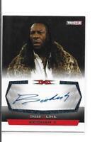 Booker T 2008 Tristar TNA Cross the Line AUTO AUTOGRAPH Blue 3/5 C-BT