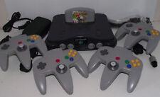 Nintendo 64 Console + 4 Controllers + Mario Kart N64 PAL Refurbed