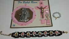 3 Religious items for Baby! Crucifix, plaque + others