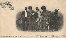 Cake Walkers Way Down South in Dixie Black Americana Postcard 1904