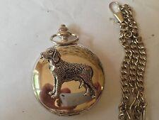 D23 Finnish Hound polished silver case mens GIFT quartz pocket watch fob