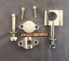"""CNC 15mm HANDLEBAR CLAMP RAISERS RISERS FOR 28mm  (1 1/8"""") FAT HANDLE BARS"""