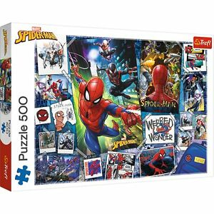 Trefl 500 Piece Adult Large Disney Marvel Spiderman Posters Jigsaw Puzzle
