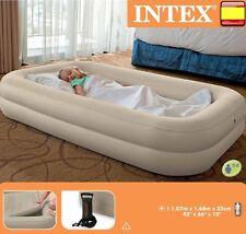 Colchón hinchable intex 168cm X 107cm X 25cm + hinchador incluido inflable cama