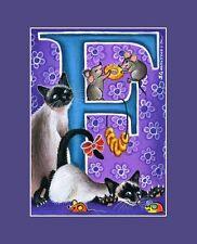 "Alphabet Cat ACEO Print Letter ""F"" by I Garmashova"