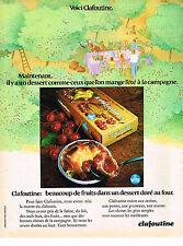 PUBLICITE ADVERTISING 034   1971   VITHO   dessert CLAFOUTINE