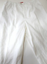 NWT Shamask Neiman Marcus Womens White Linen Pants sz M Free Shipping