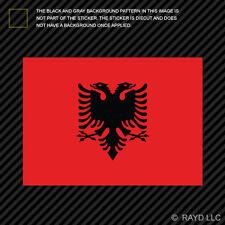 "4"" Albanian Flag Sticker Decal Self Adhesive Vinyl Albania ALB AL"