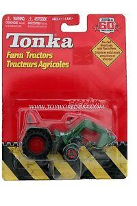 2007 Tonka 60th Anniversary Farm Tractors Green with Red Wheels Shovel
