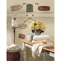 COUNTRY SIGNS Wall Stickers 26 Decals Laundry Kitchen Stars Vintage Room Decor