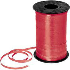 "Red 3/16"" Curling Ribbon 500 Yards Spool"