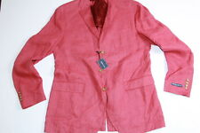 Ralph Lauren Polo made in Italy 100% Linen Red Sport Coat Jacket size 44 L Slim