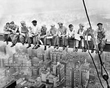 1932 New York Photo * Men Eating Lunch on Skyscraper Beam High Atop Manhattan