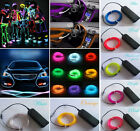 EL Wire Rope Car Party Dance Decor Flexible Neon Light Glow with Controller New