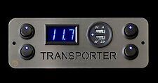 Vw Transporter T4 Campervan 4x Switches Voltmeter 2.1A USB
