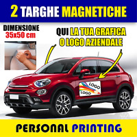 2 X TARGHE MAGNETICHE AUTO AZIENDALE PUBBLICITÀ DELIVERY CALAMITE CONSNEGNA
