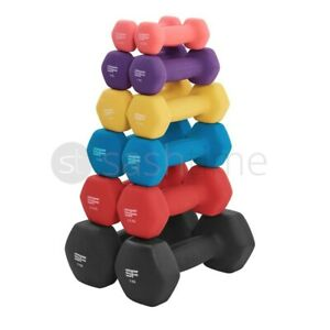 Neoprene Dumbbells Weights Home Gym Fitness Aerobic Exercise Iron Pair Hand