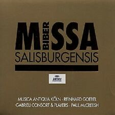 "REINHARD GOEBEL ""MISSA SALISBURGENSIS"" CD NEUWARE"