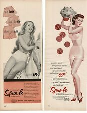 Lot of VINTAGE 1950s SPUN LO Ladies Girls Panties pinup girl art ADS CLIPPINGS